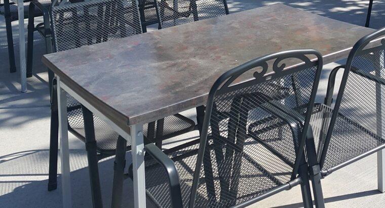 Satılık Metal Ayaklı Verzalit Masa 140 x 80 cm