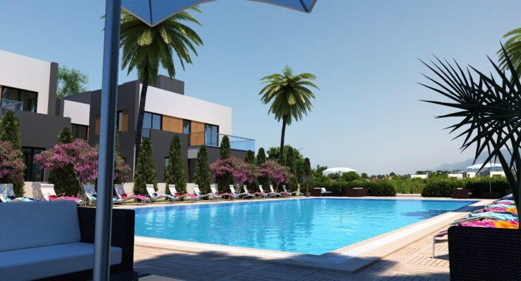 Kıbrıs Girne Karşıyaka Satılık 2+1 site içinde villa