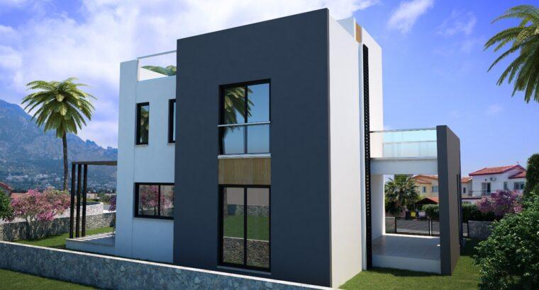 Kıbrıs Girne Karşıyaka Satılık 4+1 Dubleks Villa