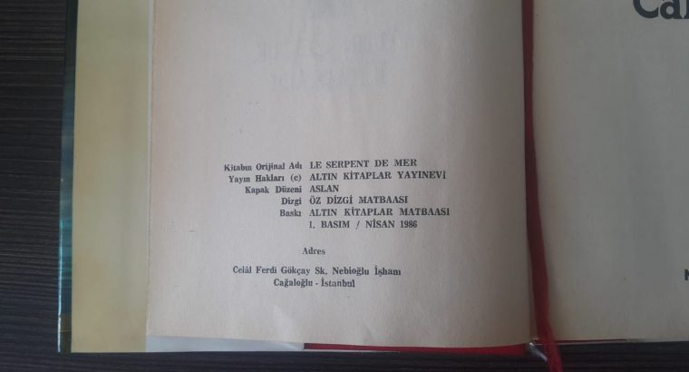 Deniz Canavarı, Jules Verne, Birinci Basım 1986