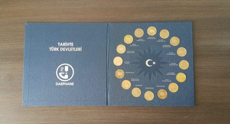 Tarihte Türk Devletleri Hatıra Para Seti Darphane