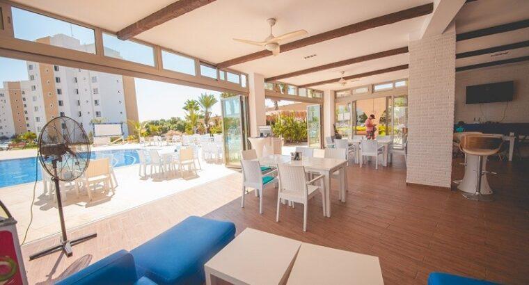 Kıbrıs İskele Satılık Site içi Yazlık 1+1 Apartman Dairesi